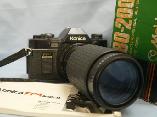 Konica FP-1 SLR Camera + 80-200mm Zoom Macro Lens £24.99